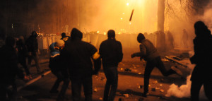 Rioters, looting, and terrorist attacks.